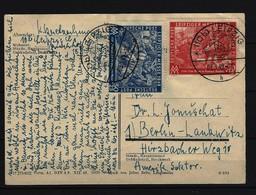 ALLIIERTE BESETZUNG - Karte Mit Mi-Nr. 230 - 231 Gelaufen Von Leipzig Nach Berlin - Sowjetische Zone (SBZ)