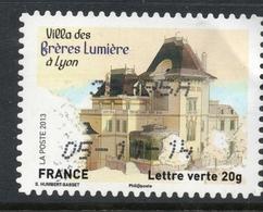 2013 Villa Des Frères Lumière à Lyon Valeur Faciale 0,58 € Timbre Oblitéré Patrimoines De France - Maisons Des Illustres - France