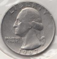 @Y@   United States Of America  Quarter Dollar   1967     (3027 ) - Émissions Fédérales