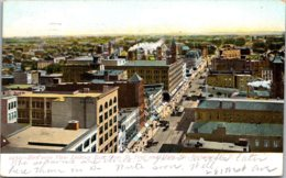 New York Rochester Birds Eye View Looking East From St Paul & Main Street 1908 - Rochester