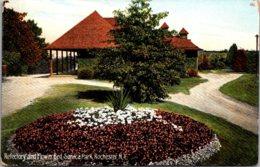 New York Rochester Seneca Park Refectory And Flower Beds - Rochester