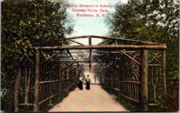 New York Rochester Genesee Valley Park Rustic Entrance To Subway - Rochester