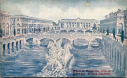 New York Rochester Wilgus Plan For New Central Station Over The Genesee - Rochester