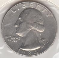 @Y@   United States Of America  Quarter Dollar   1984     (3031 ) - Émissions Fédérales