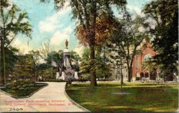 New York Rochester Washington Park Showing Soldiers And Sailors Monument - Rochester