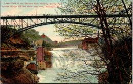 New York Rochester Lower Falls Of Genesee River Showing Driving Park Avenue Bridge - Rochester