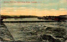 New York Rochester Genesee River From Court Street Bridge 1909 - Rochester