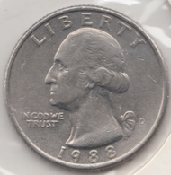 @Y@   United States Of America  Quarter Dollar   1988     (3034 ) - Émissions Fédérales