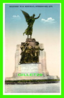 SHERBROOKE, QUÉBEC - SOLDIER'S WAR MEMORIAL - PUB. BY INTERNATIONAL FINE ART CO LTD - - Sherbrooke