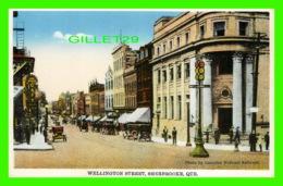 SHERBROOKE, QUÉBEC - WELLINGTON STREET - ANIMATED - PUB. BY INTERNATIONAL FINE ART CO LTD - - Sherbrooke