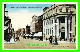 SHERBROOKE, QUÉBEC - WELLINGTON STREET - ANIMATED POLICEMEN - PUB. BY INTERNATIONAL FINE ART CO - - Sherbrooke