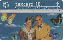 Télécarte Suisse : PTT Taxcard 10.- : Papillon - Autres