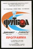 Official Football Programme Dynamo (Kiev, Ukraine) - Laval (France) 1983 (calcio, Soccer) - Programs