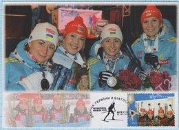 UKRAINE Maxi Card. FDC. Sport Olympiad. Winter Olympic Game . Sochi. Russia. Biathlon Team. KYIV. 2014 - Ukraine