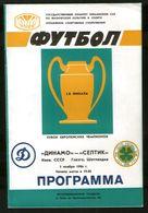 Official Football Programme Dynamo (Kiev, Ukraine) - Celtic (Glasgow, Scotland) 1986 (calcio, Soccer) - Programs