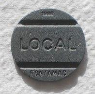 Brasil Telephone Token 1986 Small Date  LOCAL FONTAMAC   L Inside Square SISTEMA TELEBRAS Logo - Monetary /of Necessity