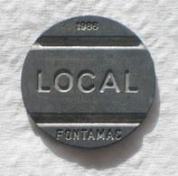 Brasil Telephone Token 1986 Small Date  LOCAL FONTAMAC   N  Inside Square SISTEMA TELEBRAS Logo - Monetary /of Necessity