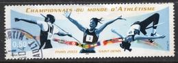 2003 Championnat Du Monde D'Athlétisme, Valeur Faciale 0,50 € Timbre Oblitéré De France Paris Saint-Denis - France