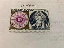 France Famous Nicolas Copernicus Astronomer 1974 Mnh - France