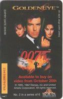 Télécarte British Telecom : 007 James Bond : Golden Eye (#2 Sur 6) - Cinéma