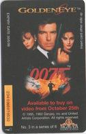 Télécarte British Telecom : 007 James Bond : Golden Eye (#3 Sur 6) - Cinéma
