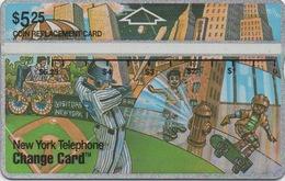 Télécarte New-yorkaise : Baseball Skateboard - Sport