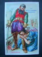 CHROMO Lith J Chéret : Magasins Aux Buttes Chaumont / BARBE BLEUE / Victorian Trade Card - Autres