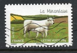 2014 La Mirandaise, Valeur Faciale 0,61 € Timbre Oblitéré De France Carnet « Les Vaches De Nos Régions » - France