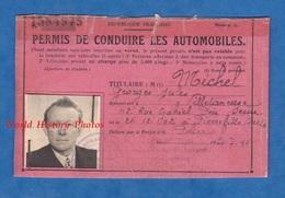 Permis De Conduire Les Automobiles - 1950 - Georges MICHEL De VILLETANEUSE - Auto - Historische Documenten