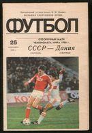 Official Football Programme USSR - Denmark 1985, World Cup Qualifying Match (calcio, Soccer ) - Programs