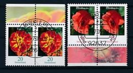 GERMANY Mi.Nr. 2471-2472 Freimarken: Blumen - Paar - ET Weiden - Used - BRD