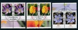 GERMANY Mi.Nr. 2480,2484-2485 Freimarken: Blumen - Paar - ESST Berlin - Used - BRD