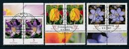 GERMANY Mi.Nr. 2480,2484-2485 Freimarken: Blumen - Paar - ESST Bonn - Used - BRD