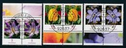 GERMANY Mi.Nr. 2480,2484-2485 Freimarken: Blumen - Paar - ET Weiden - Used - BRD