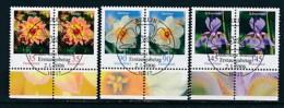 GERMANY Mi.Nr. 2505-2507 Freimarken: Blumen - Paar - ESST Berlin - Used - BRD