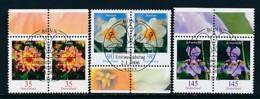 GERMANY Mi.Nr. 2505-2507 Freimarken: Blumen - Paar - ESST Bonn - Used - BRD