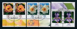 GERMANY Mi.Nr. 2505-2507 Freimarken: Blumen - Paar - ET Weiden - Used - BRD