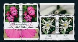 GERMANY Mi.Nr. 2529-2530 Freimarken: Blumen - Paar - ESST Berlin - Used - BRD