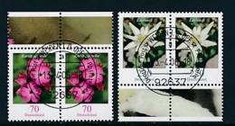 GERMANY Mi.Nr. 2529-2530 Freimarken: Blumen - Paar - ET Weiden - Used - BRD