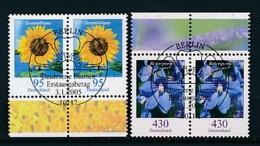 GERMANY Mi.Nr. 2434-2435 Freimarken: Blumen - Paar - ESST Berlin - Used - BRD