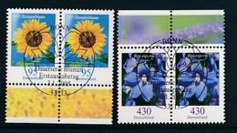 GERMANY Mi.Nr. 2434-2435 Freimarken: Blumen - Paar - ESST Bonn - Used - BRD