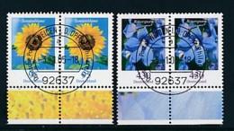 GERMANY Mi.Nr. 2434-2435 Freimarken: Blumen - Paar - ET Weiden - Used - BRD
