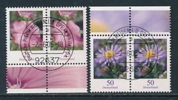 GERMANY Mi.Nr. 2462-2463 Freimarken: Blumen - Paar - ET Weiden - Used - BRD