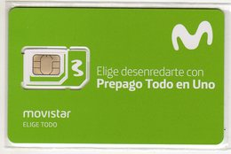COLOMBIE CARTE GSM MOVISTAR VERSO NUMEROTEE - Colombie