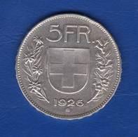 Suisse  5  Fr  1926 - Switzerland