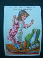CHROMO Lith Danmanville & Daumas : Magasins Au Pauvre Jacques / AH ! QUELLE EST BELLE / Victorian Trade Card - Autres