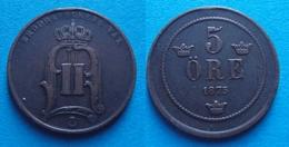 SUEDE Deux Monnaies 5 Öre 1875 - 5 Öre 1914 - Sweden