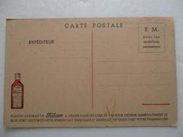CPA CPSM CP PUB Publicité FRANCHISE MILITAIRE 14/18 Militaria FLACON FRILEUSE A BASE D' UVERIA DE MADAGASCAR - B/TBE - Guerre 1914-18