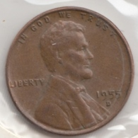@Y@   United States Of America  1 Cents  1955   (3052 ) - Federal Issues