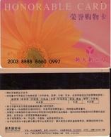 TARJETA DE CHINA. FLORES, HONORABLE CARD. (0025) - Flores